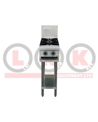 2 GAS OPEN BURNER WITH LEG