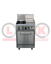 LKK 2 OPEN BURNER WITH 300mm GRIDDLE AND STATIC OVEN
