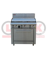 LKK 900mm GRIDDLE AND STATIC OVEN