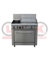 LKK 2 OPEN BURNER WITH 600mm GRIDDLE AND STATIC OVEN