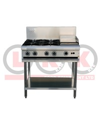 LKK 4 OPEN BURNERS WITH 300mm GRIDDLE