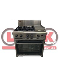 LKK 4 OPEN BURNER WITH 300MM GRIDDLE AND ELECTRIC CONVECTION OVEN
